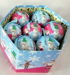 Luxury Santa and Friends Jolly Christmas Design 12 Bauble Box with Lid