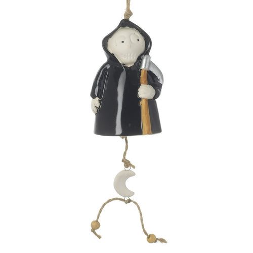 Ceramic Small Halloween Grim Reaper Wind Chime - Spooky but Cute-The Useful Shop