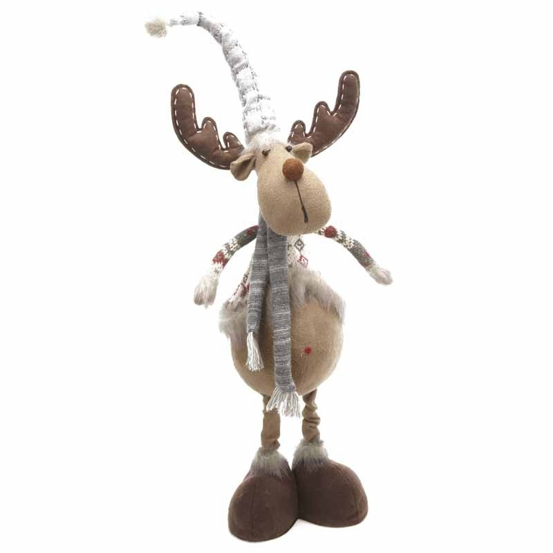 Tall Moose in Nordic Jumper Christmas Decoration-The Useful Shop