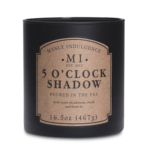 Manly Indulgence 5 O'Clock Shadow Large 16.5oz Jar Luxury Candle by Colonial Candle