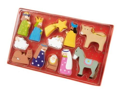 Wooden Hanging Christmas Nativity Set-The Useful Shop