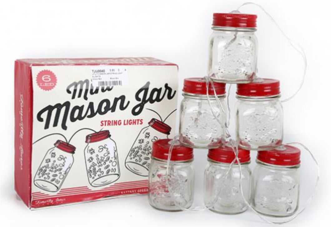 Mason Jar Utility Light String by Temerity Jones