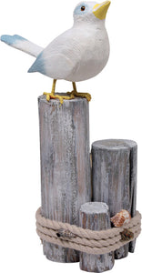 Sea Birds on Beach Driftwood Wooden Ornaments Detail 1
