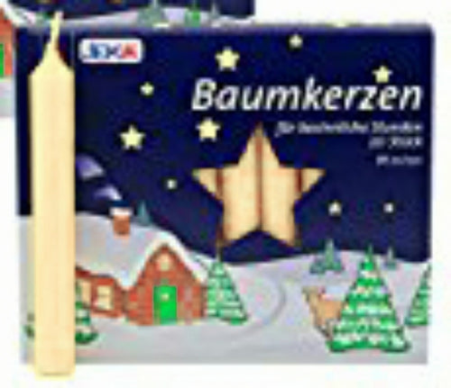 Ivory Traditional Christmas Tree Chime Candles Baumkerzen