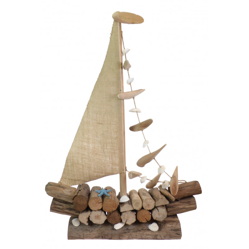 Extra Large Natural Driftwood Decorative Sailing Boat Display Ornament
