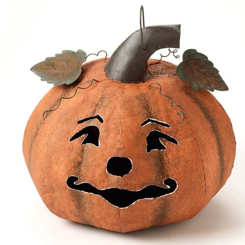 Large Metal Pumpkin Halloween Lantern-The Useful Shop