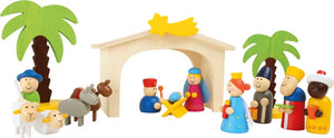 Wooden Christmas Nativity Manger Play Set-The Useful Shop