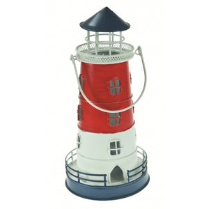 Lighthouse lantern red white blue