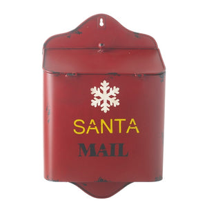Large Vintage Style Santa Mail Metal Christmas Post Box-The Useful Shop