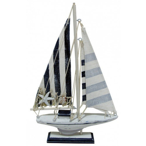 wooden sail boat ornament