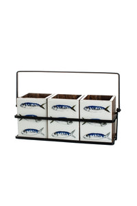 3 Fish Design Triple Kitchen & Dining Caddy by Shoeless Joe