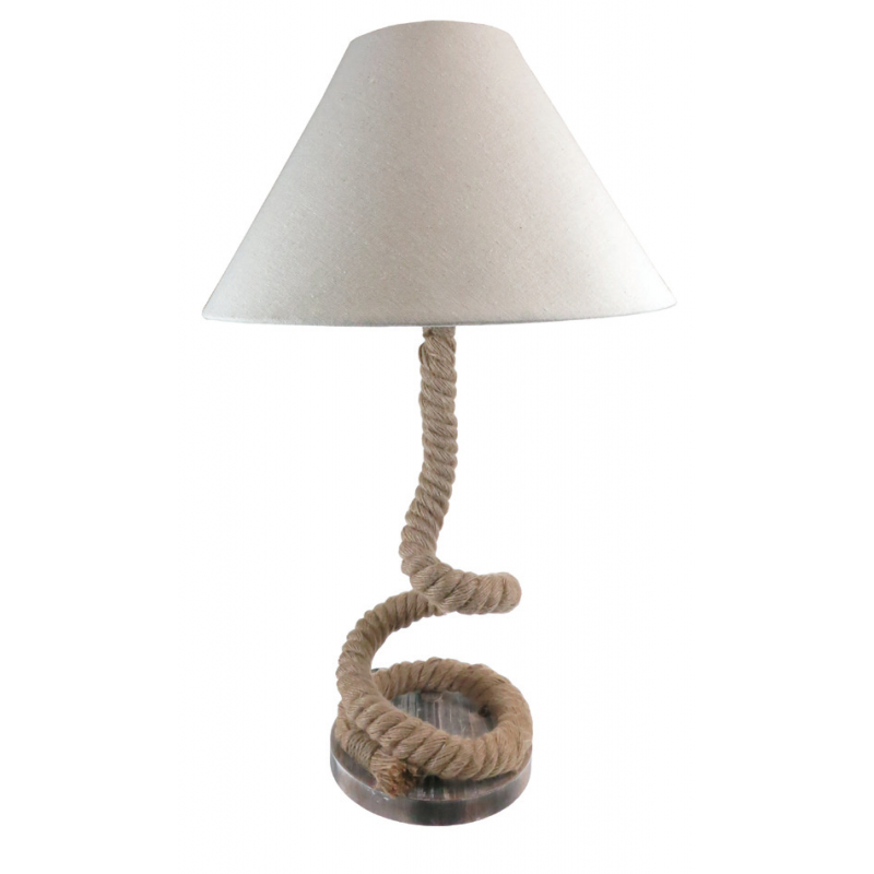 Twisted Rope Feature Table Lamp