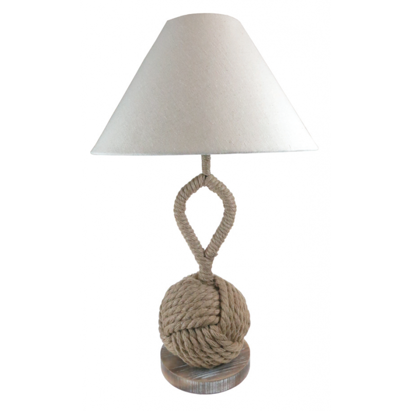 Natural Rope Knot Lamp with Feature Stem and Shade