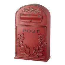 Vintage Style Red Metal Large Post Box by Heaven Sends-The Useful Shop