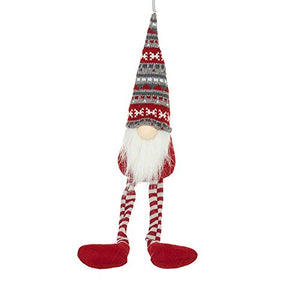 Christmas Gnome Nordic Style Shelf Sitter Ornament with Long Legs