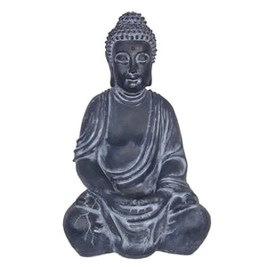 Limited Edition Dark Grey Meditating Rulai Buddah Garden Statue 51cm