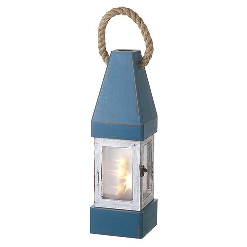 Wooden Nautical Buoy Vintage Style LED Lantern