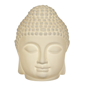 Large Ceramic Buddha Head Lamp Battery Operated