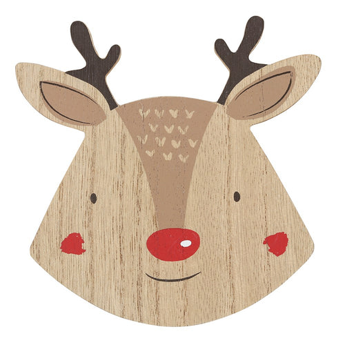 Christmas Reindeer Natural Coasters Set of 4