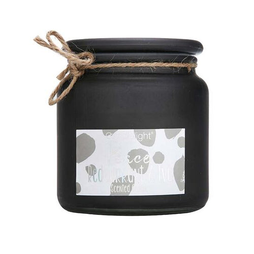 Large Frosted Peace Redcurrant & Ivy Grey Jar Candle by Candlelight