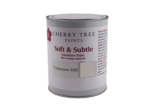 Cherry Tree Paints Corkscrew Hill Grey Soft & Subtle Decor Paint