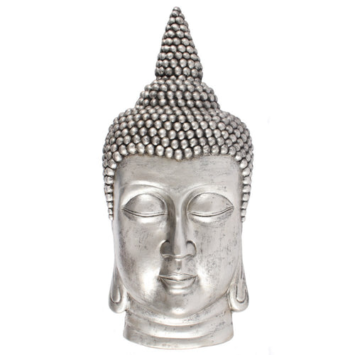 David Fischhoff Very Large Silver Finish Thai Buddha Wall Sculpture