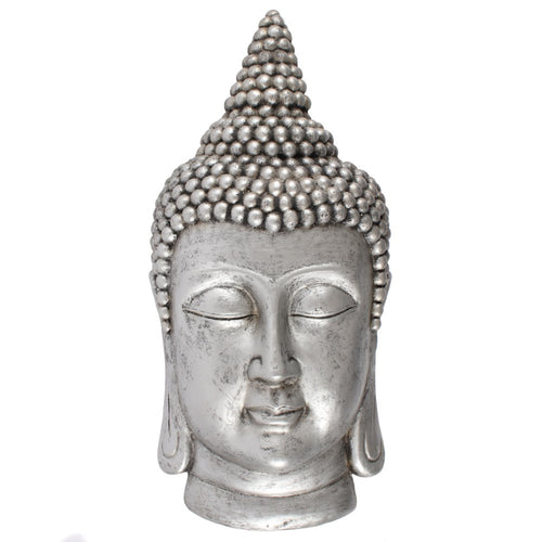 David Fischhoff Large Silver Finish Thai Buddha Wall Sculpture