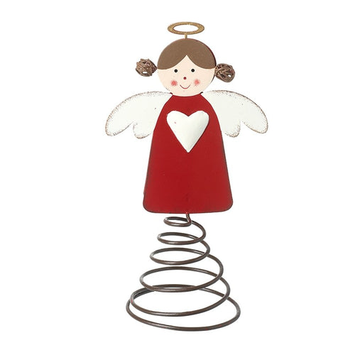 Cute Angel Metal Christmas Tree Topper Decoration