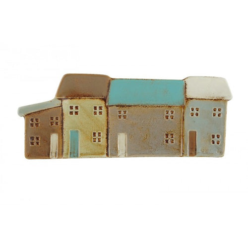 32cm Seaside Terraced Cottages Ceramic Platter/Plate