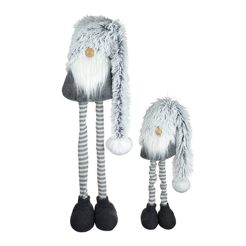 Set of 2 Large Nordic Gnomes With Extending Legs and Luxury Plush