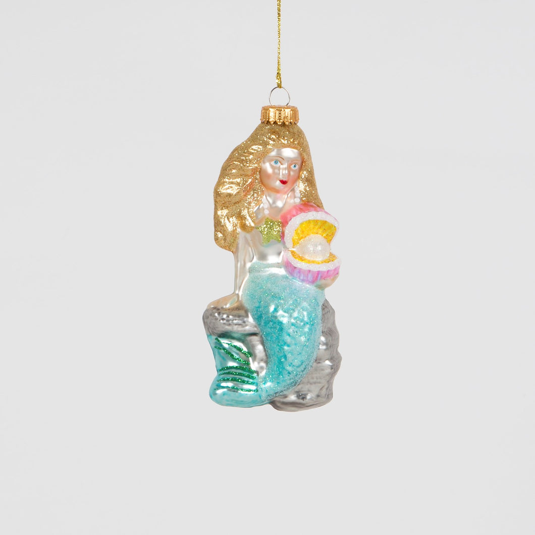 Sass & Belle Wonderland Mermaid with Pearl Large Christmas Tree Bauble Ornament