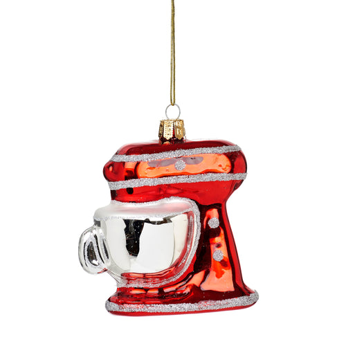 Sparkling Red Food Mixer Baking Christmas Tree Bauble Ornament by Sass & Belle