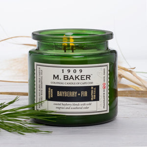 M Baker Colonial Candles of Cape Cod Large 14oz Bayberry Fir Christmas Holiday Candle