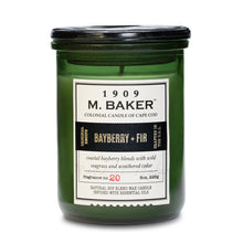 M Baker Colonial Candles of Cape Cod 8oz Bayberry Fir Christmas Holiday Candle