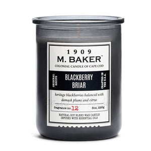 M Baker Colonial Candles of Cape Cod 8z Blackberry Briar Apothecary Candle