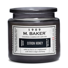 M Baker Colonial Candles of Cape Cod Large 14oz Citron Honey Apothecary Candle