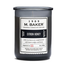 M Baker Colonial Candles of Cape Cod 8oz Citron Honey Apothecary Candle