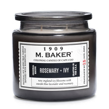 M Baker Colonial Candles of Cape Cod Large 14oz Rosemary & Ivy Apothecary Candle
