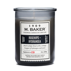 M Baker Colonial Candles of Cape Cod 8oz Rosehips & Hydrangea Apothecary Candle