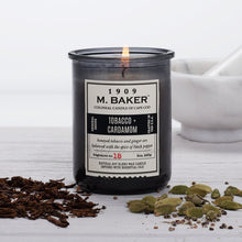 M Baker Colonial Candles of Cape Cod 8oz Tobacco & Cardamom Apothecary Candle