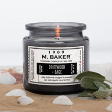 M Baker Colonial Candles of Cape Cod Large 14oz Driftwood Sage Apothecary Candle