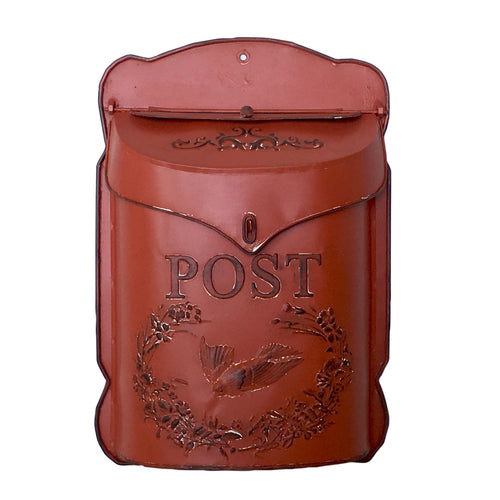 Vintage Style Red Painted Metal Letter / Post Box by Heaven Sends
