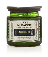 M Baker Colonial Candles of Cape Cod Large 14oz Bayberry Fur Christmas Holiday Candle