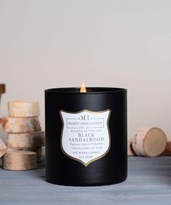 Manly Indulgence Black Sandalwood Large 15oz Matt Black Jar Luxury Candle by Colonial Candle