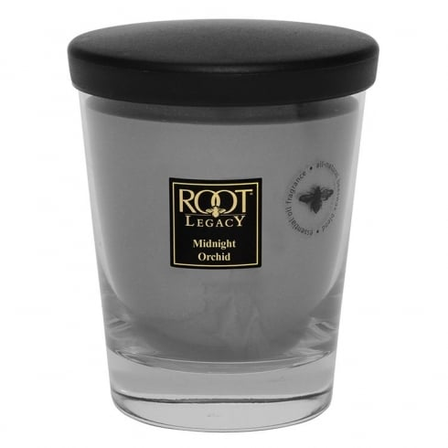 Root Candles Legacy Large Veriglass Midnight Orchid Candle-The Useful Shop