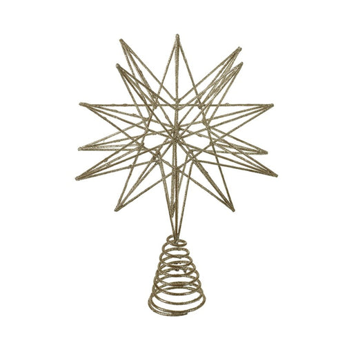 Gold Geometric Star Christmas Tree Topper by Heaven Sends