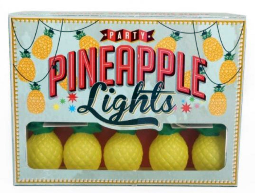 Funky Pineapple Battery Operated String Lights by Temerity Jones-The Useful Shop