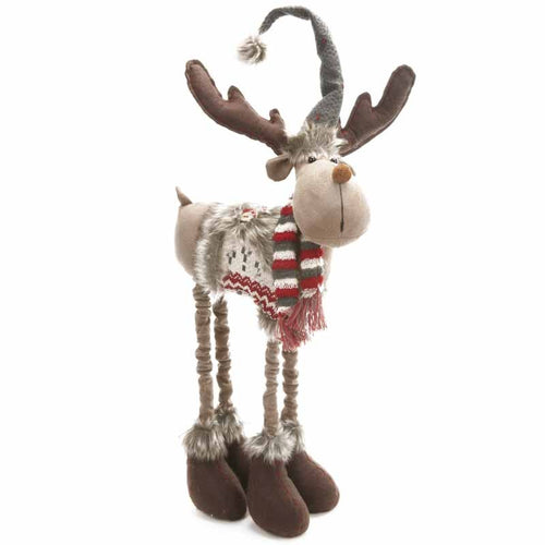 Tall Christmas Moose Reindeer Display Decoration with Telescopic Adjustable Legs by Heaven Sends