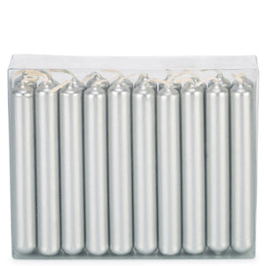 Pack of 20 Silver Traditional Christmas Tree Chime Candles Baumkerzen