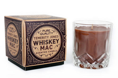 Gentlemens Club Whiskey Mac Hot Ginger Tea Whisky Tumbler Scented Candle-The Useful Shop
